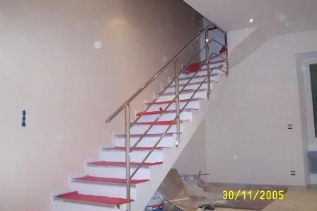 rampe d 39 escalier inox rs inox. Black Bedroom Furniture Sets. Home Design Ideas
